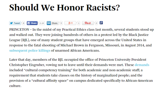 Should We Honor Racists  by Peter Singer   Project Syndicate