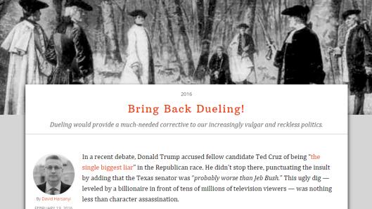 Bring Back Dueling